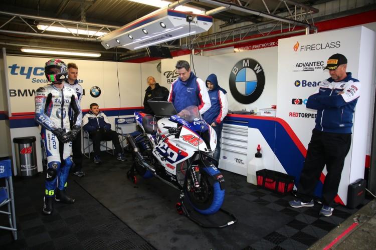 2015 British Superbike Championship, BSB R12, Brands Hatch, Kent, UK. 16th October 2015. Tommy Bridewell, Devizes, Tyco BMW Motorrad Racing