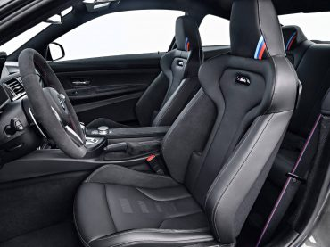 Interior del BMW M4 CS en Lime Rock Grey Metallic