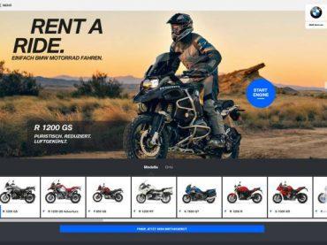 """Servicio """"Rent a Ride"""" de BMW Motorrad"""
