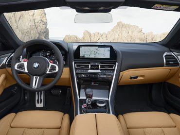El interior de nuevo BMW M8 Cabrio
